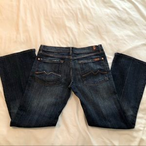 "7 For All Mankind Jeans - 74AM Jeans 31"" Distressed Bootcut Jeans"